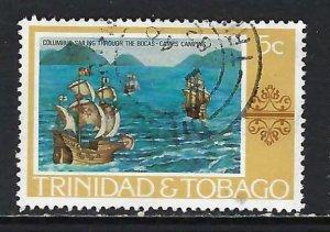 TRINIDAD & TOBAGO 262 VFU COLUMBUS H1246-9
