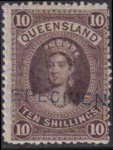 Australia - Queensland 1882-1885 SC 77 MLH Specimen