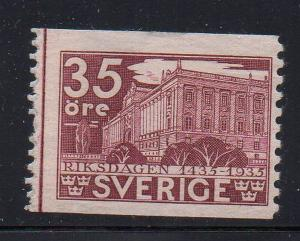 Sweden Sc 246 1935 35 ore Parliament stamp mint