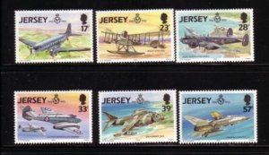 Jersey Sc 634-639 1993 75th Anniversary RAF  stamp set mint NH