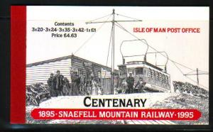 Isle of Man 1995 Snaefell Mountain Railway stamp booklet mint NH 626a, 627a