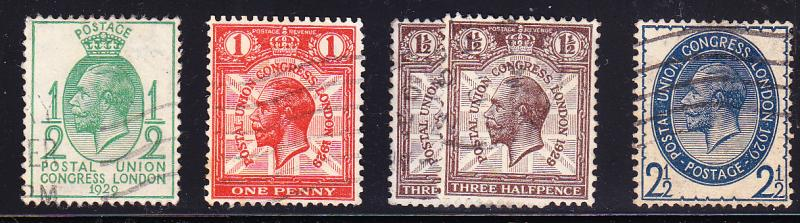Great Britain 1929 KGV (4) Universal Postal Congress VF/used(o)
