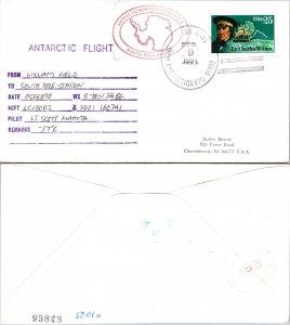 1991 US NAVY + FLIGHT CACHET, 1991, Polar