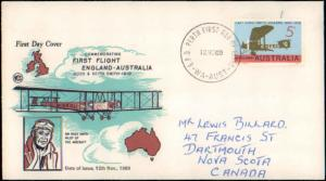 Australia, Worldwide First Day Cover, Aviation