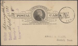 TEXAS CASS COUNTY (1891 Springdale) DPO DEAD POST OFFICE 1883-1938