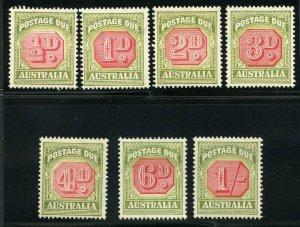 AUSTRALIA  SCOTT #J64/70 POSTAGE DUES  MINT HINGED--SCOTT $257.00