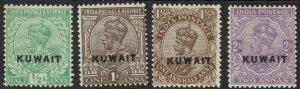 KUWAIT 1923 KGV 1/2A - 2A WMK LARGE STAR