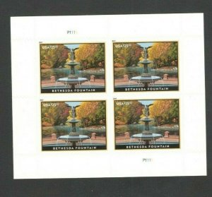 5348 Bethesda Fountain US Express Mail Plate Block Mint/nh FREE SHIPPING