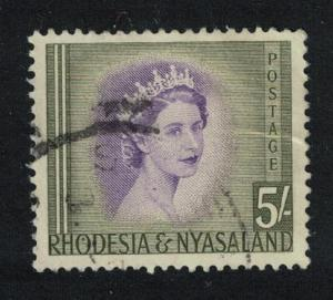 Rhodesia and Nyassa Queen Elizabeth II 5Sh SG#13