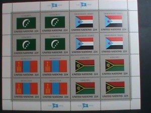 UNITED NATION-1987 SC#499-502 U. N. FLAGS SERIES MNH FULL SHEET- VERY FINE