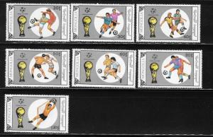 Mongolia 1990 World Cup Soccer Championship Italy Sc1838-1844 MNH A780