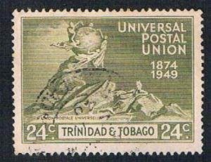 Trinidad and Tobago 69 Used UPU Globe 1949 (BP2651)