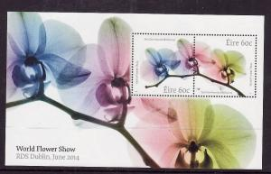 Ireland-Sc#2038b-unused NH sheet-World Flower Show-2014-