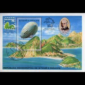 ST.THOMAS 1979 - Scott# 519 S/S Graf Zeppelin CTO
