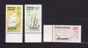 Tokelau 22-24 Set MNH Sailing Ships, Maps (A)