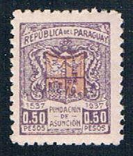 Paraguay 341 MNH Arms of Asuncion 1937 (P0303)+