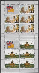 Niue #194-5 MNH Sheets Of 5 CV $8.75 (K407L)