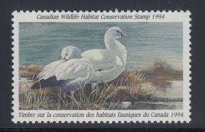 Canada Uni FWH10 MNH. 1994 $8.50 Ross' Geese, Hunting Permit Stamp, VF