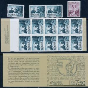SWEDEN 1109-1111a Int. Women's Year, incl. booklet. MNH (13)