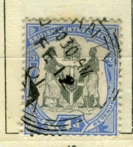 NYASALAND; 1897 classic Central Africa Wmk. issue fine used 1d. value