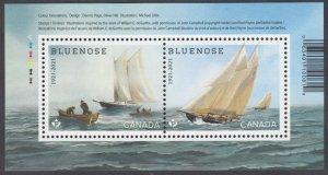 Canada - *NEW* Bluenose 100th Anniversary Souvenir Sheet - MNH