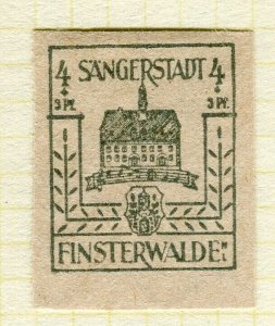 GERMANY; FINSTERWALDE 1946 early Local Post issue Mint hinged 4pf. value