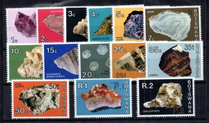 Botswana 1976 Minerals New Currency MNH set SG#367-380 WS17256