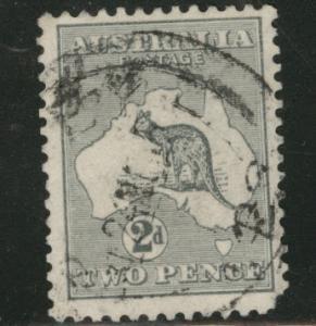 Australia Scott 45 used 2p gray Kangaroo wmk 10 1915 CV$9