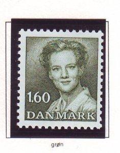 Denmark Sc 701 1982 1.60kr dark olive green Queen stamp mint NH