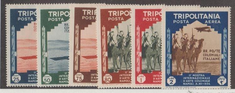 Tripolitania Scott #C43-C48 Stamps - Mint Set