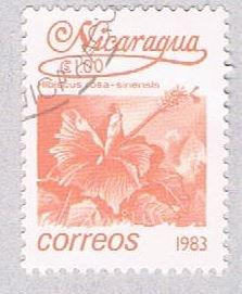 Nicaragua Flower pink 10 - pickastamp (AP109021)