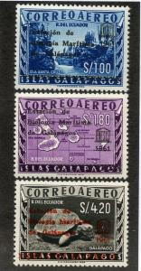 ECUADOR C389-C391 MNH SCV $8.00 BIN $5.00 GEOGRAPHY UNESCO