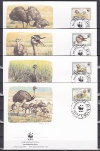 Uruguay, Scott cat. 1509-1512. WWF-Iguanas shown on 4 First day covers. ^