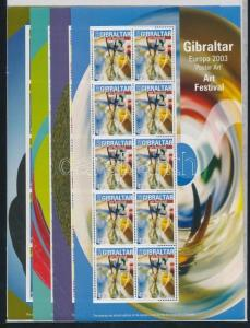 Gibraltar stamp Europe: Poster Art mini sheet set MNH 2003 WS101284