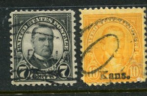 1929 issue #665, 668,  KANS OVPTS