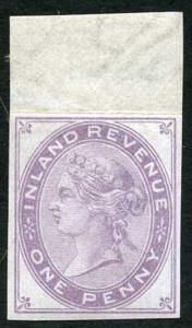 SGF22 Penny reddish Lilac die 4 wmk Anchor Imprimatur U/M