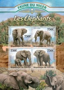 NIGER 2013 SHEET ELEPHANTS WILDLIFE nig13109a