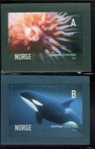 Norway Scott 1440-1441 Orca Whale, Urchin self adhesive set
