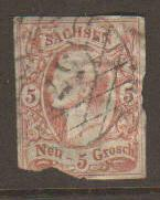 Saxony (Germany) #13 used (second)