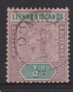 Leeward Islands Sc#1 Used - Postmark Cancel Dominica
