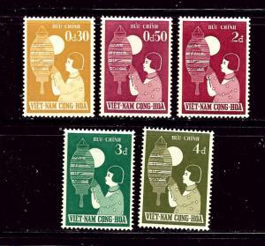 South Vietnam 83-87 MNH 1958 set