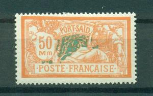 French Offices in Egypt Port Said sc# 90 mhr cat val $4.50