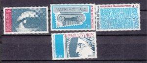J27665 1975 france set mnh #1425-8 designs