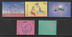 1998 Australia - Sc 1685-9 - MNH VF - 5 singles - Cartoon