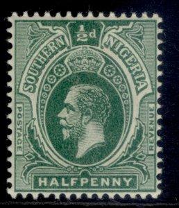 SOUTHERN NIGERIA GV SG45, ½d green, LH MINT.