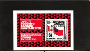 SAMOA 473 SOUVENIR SHEET MNH 2019 SCOTT CATALOGUE VALUE $1.75