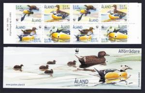 Aland Is. Birds WWF Steller's Eider Booklet 2001 MNH SG#184-187 MI#183-186