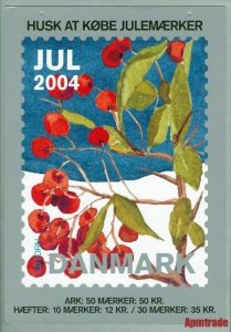 Denmark. Christmas Seal. 2004. 1 Post Office,Display,Advertising Sign. Berries