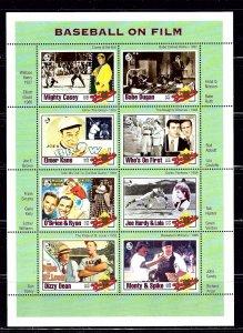 Gambia 1348 MNH 1993 Baseball on Film sheet of 8  (B1P2)