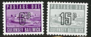 Guernsey Scott J14 and J17 1976 Postage dues CV$0.75 MNH**